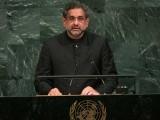 ریاستی سرپرستی میں ہونے والی دہشت گردی کا خاتمہ بھی نہایت ضروری ہے، وزیراعظم شاہد خاقان عباسی۔ فوٹو: اے ایف پی
