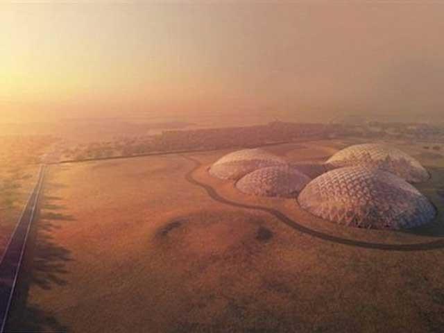 امارات کی حکومت نے اگلے 100 سال میں مریخ پر انسانی آبادی بسانے کے منصوبے کا افتتاح کردیا۔ فوٹو: حکومتِ دبئی