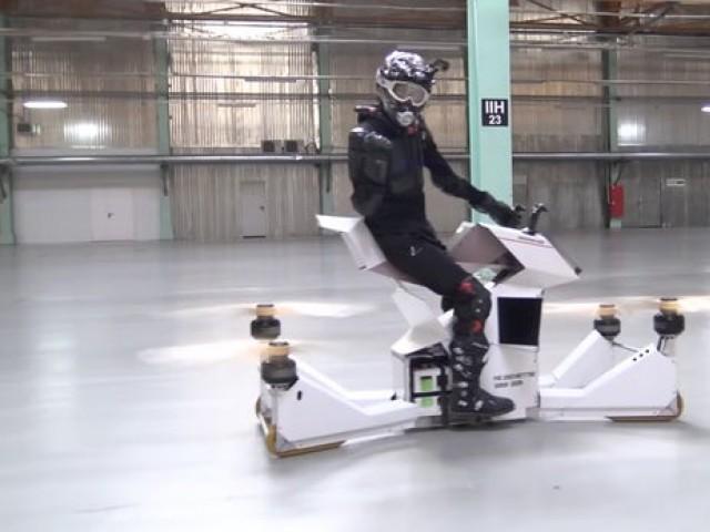 ڈرون بائیک کو''ہوورسرف'' کا نام دیا گیا :فوٹو:انٹرنیٹ