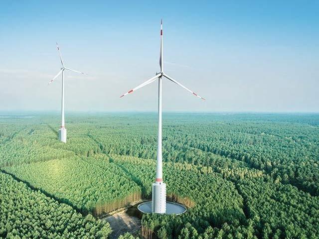 جرمنی میں دنیا کی بلند ترین ٹربائن کا ایک منظر۔ فوٹو: بشکریہ نیواٹلس ویب سائٹ