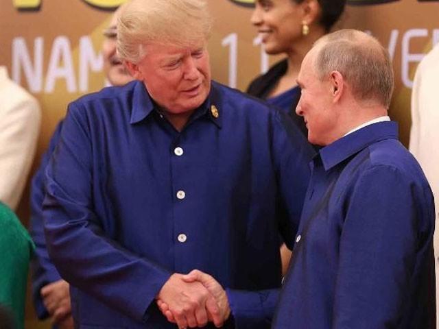 سربراہی اجلاس میں روسی اورامریکی صدورکےدرمیان رسمی ملاقات ہوئی:فوٹو:سی این این