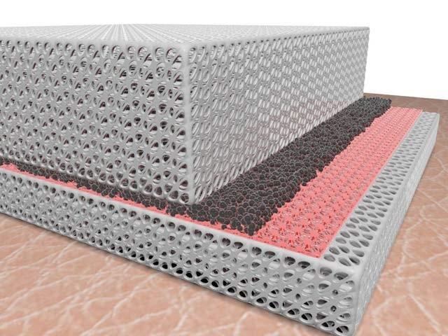 اسٹینفرڈ یونیورسٹی کے ماہرین نے ایسا مٹیریل بنایا ہے جو ایک جانب سے سرد اور دوسری جانب سے گرم ہوتا ہے۔ فوٹو: بشکریہ سائنس ایڈوانسس