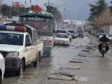 کوئٹہ اور گرد و نواح میں بارش کا سلسلہ وقفے وقفے سے جاری ہے۔ فوٹو: فائل