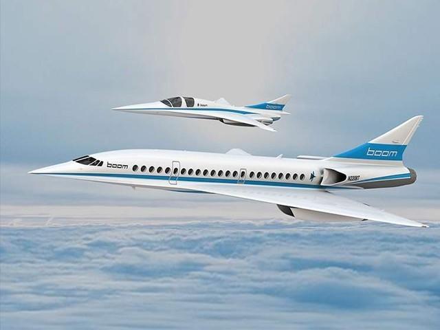 بوم سپرسانک نامی یہ طیارہ 5500 کلومیٹر کا فاصلہ ساڑھے 4 گھنٹے میں طے کرسکتا ہے، فوٹو: خلیج ٹائمز