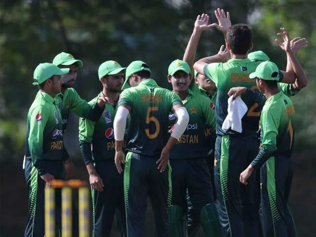 پاکستان ٹیم گروپ بی میں 4 پوائنٹس کے ساتھ دوسرے نمبر پر رہی۔فوٹو:سوشل میڈیا