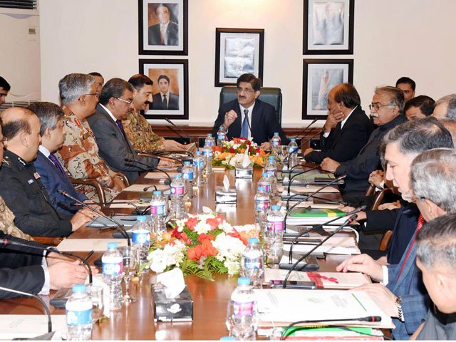 کور کمانڈر کراچی، آئی جی، ڈی جی ریِنجرز اور سیکیورٹی اداروں کے حکام شرکت کرینگے فوٹو: آن لائن