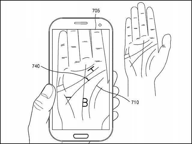 سام سنگ اسمارٹ فون سے ہتھیلی کو پڑھنے والا نظام بنارہا ہے جو ہتھیلی کی لکیروں کو بطور پاس ورڈ استعمال کرے گا۔ فوٹو: بشکریہ سام سنگ