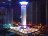 چین میں 100 میٹر بلند ٹاور گندی ہوا جذب کرکے اسے صاف کرکے باہر بھیجتا ہے۔ فوٹو: فائل