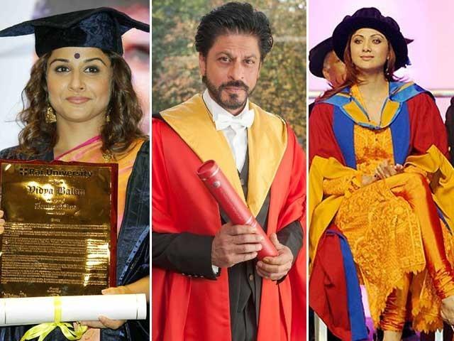 بالی ووڈ کے متعدد اداکاروں کو فلم انڈسٹری میں بہترین خدمات کیلئے ڈاکٹریٹ کی اعزازی ڈگری سے نوازاجاچکا ہے؛ فوٹوفائل