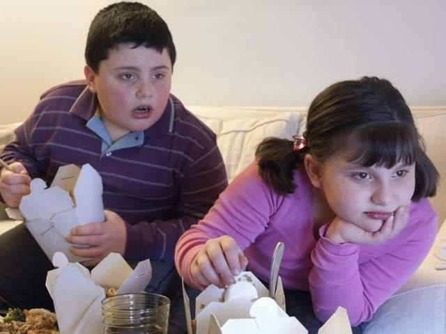 یورپ کے بچوں پر ہونے والے طویل تحقیقی مطالعے کے بعد معلوم ہوا ہےکہ جو بچے ٹی وی دیکھتے ہوئے کھانا کھاتے ہیں ان میں موٹاپے کا شکار ہونے کا خطرہ بہت ذیادہ ہوتا ہے۔ فوٹو: فائل