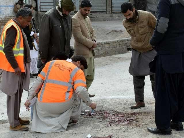 گزشتہ روز کوئٹہ میں دہشت گردوں کی فائرنگ سے 4 سیکیورٹی اہلکار شہید ہوگئے تھے فوٹو: فائل