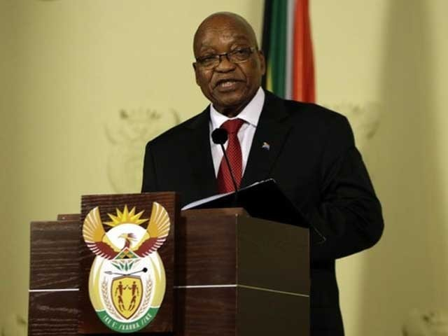 جیکب زوما نے حکمران پارٹی 'افریقی نیشنل کانگریس' کی سربراہی بھی چھوڑنے کا اعلان کردیا۔ فوٹو:فائل