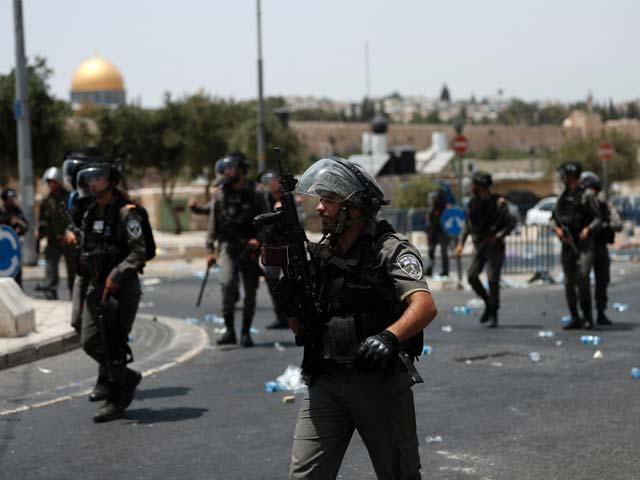 امریکی صدر ٹرمپ کی جانب سے القدس کو فلسطین کا دارالحکومت قرار نہ دیے جانے کے بعد سے احتجاج کا سلسلہ بدستور جاری ہے۔ فوٹو: اے ایف پی