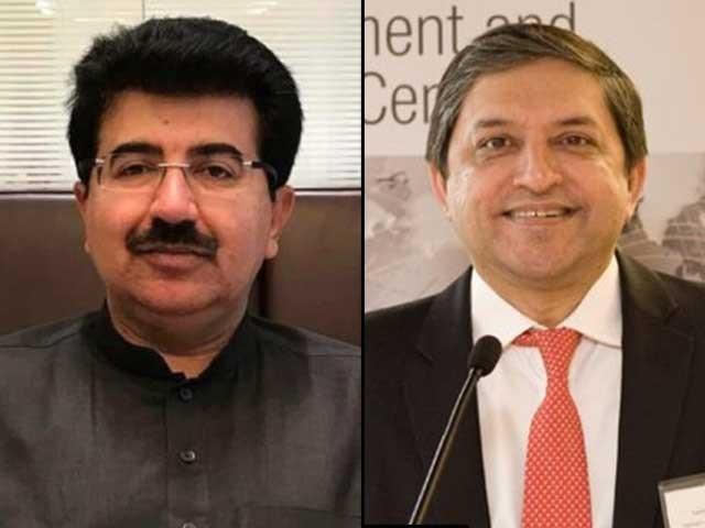 اپوزیشن جماعتوں کے متفقہ امیدوار صادق سنجرانی اور سلیم مانڈوی والا کی پوزیشن مضبوط فوٹو:فائل