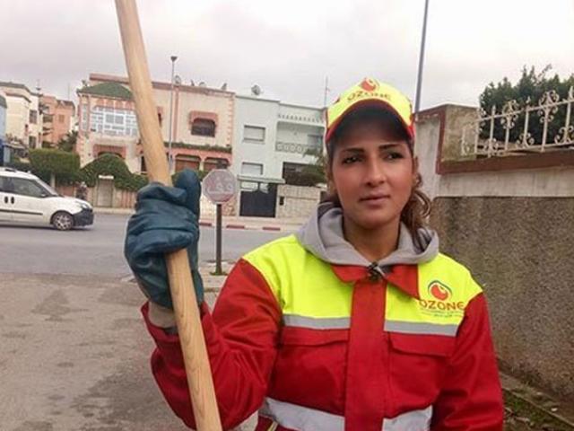 مراکش کی پچیس سالہ خاکروب خاتون نے مقابلہ حسن جیت لیا۔ (فوٹو: سوشل میڈیا)