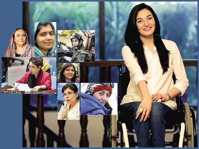 مختلف شعبہ ہائے زندگی میں نمایاں مقام حاصل کرنے والی قابل فخر خواتین۔ فوٹو: فائل