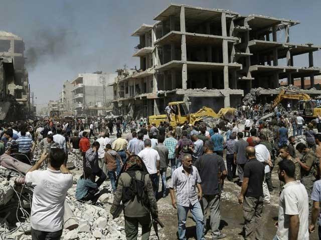 شامی فوج نے مشرقی غوطہ کے 80 فیصد علاقے پر کنٹرول حاصل کرلیا، عفرین میں ترک فوج کی بمباری ،11 افراد مارے گئے۔ فوٹو: سوشل میڈیا