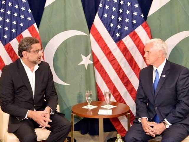 وزیراعظم پاکستان شاہد خاقان عباسی امریکا کے نجی دورے پر واشنگٹن پہنچے تھے فوٹو:فائل