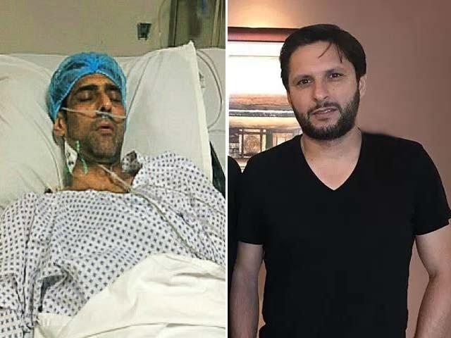 ماری فاؤنڈیشن منصور کے علاج پر اٹھنے والے تمام اخراجات ادا کرے گی، شاہد آفریدی ۔ فوٹو : فائل