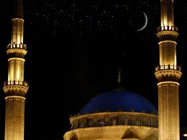 رویت ہلال کمیٹی کے چیرمین مفتی منیب الرحمان نے چاند نظر آنے کا اعلان کیا۔ فوٹو: فائل