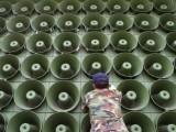 جنوبی کوریا ان لاؤڈ اسپیکر سے شمالی کوریا کے خلاف منفی پروپیگنڈہ کرتا تھا۔ فوٹو: فائل