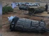 میزائل کے ٹکڑے صحرا میں گرے جس کی وجہ سے کوئی جانی و مالی نقصان نہیں ہوا۔