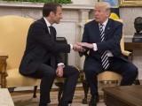 ایمانیول ٹرمپ کے دورِ صدارت میں امریکی دورے پر آنے والے کسی ملک کے پہلے صدر ہیں۔ فوٹو : سوشل میڈیا