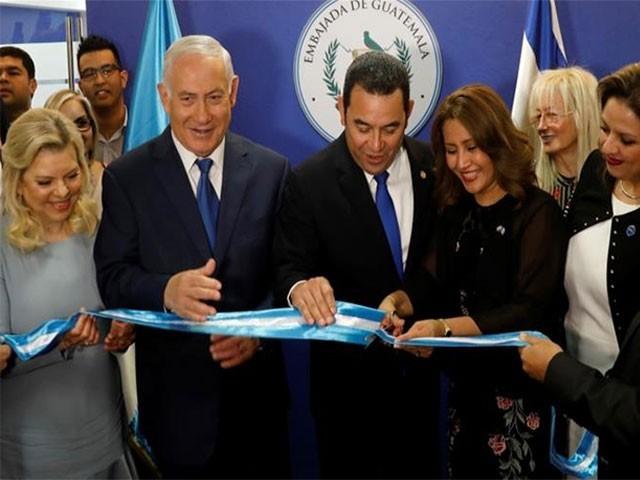 افتتاحی تقریب میں اسرائیلی وزیراعظم کی شرکت،فوٹو:رائٹرز
