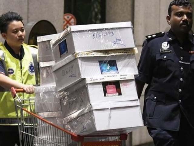سابق وزیراعظم کےگھر سے برآمد ہونے والی کرنسی اور قیمتی اشیاء کی تفصیلات جمع کی جا رہی ہیں۔ فوٹو: فائل