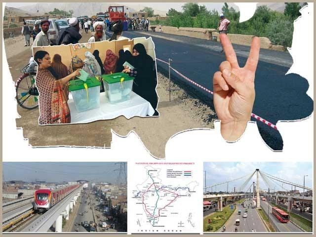 پاکستان اوربھارت میں حکومتیں ووٹروں کے دل جیتنے کی خاطر سڑکوں کی تعمیر پہ کھربوں روپے خرچ کرنے لگیں۔ فوٹو: فائل