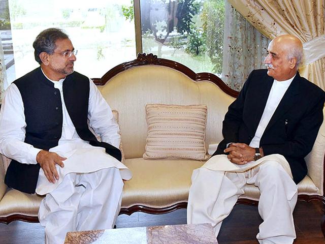 وزیر اعظم اور خورشید شاہ کے درمیان ملاقات ساڑھے گیارہ بجے ہوگی۔ فوٹو : فائل