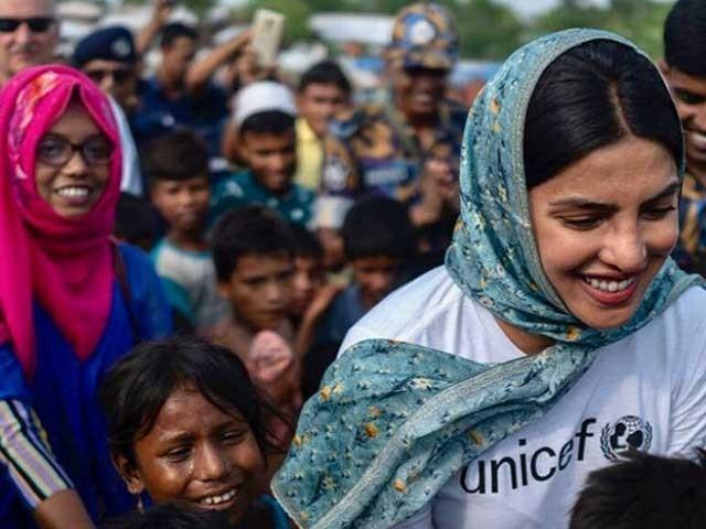 روہنگیا کے مظلوم بچے ہمارا مستقبل ہیں انہیں ہماری توجہ، ہمدردی اورمدد کی ضرورت ہے، پریانکا فوٹو:انسٹاگرام
