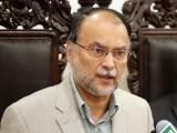 آج پاکستان کے دوبڑے مسائل میں توانائی اوردہشتگردی شامل نہیں،وزیر داخلہ : فوٹو: فائل