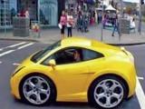 چھوٹی سی کار کو تیز رفتار سواری میں تبدیل کر دیا جو240ccانجن سے مزین کی گئی ہے۔ فوٹو: سوشل میڈیا