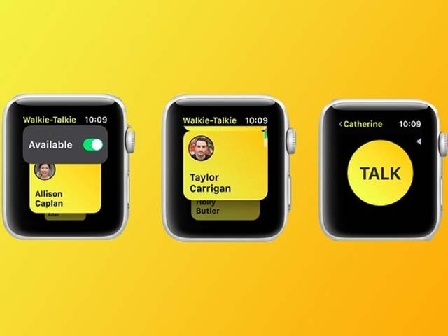 ایپل نے ذاتی اور محفوظ گفتگو کے لیے واکی ٹاکی ایپ پیش کردی ہے۔ فوٹو: فائل