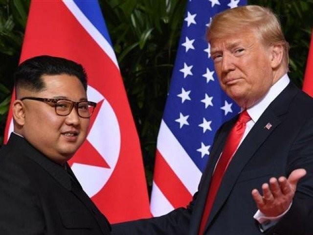 شمالی کوریا اور امریکا کے سربراہان کے درمیان تاریخی ملاقات 12 جون کو سنگاپور میں ہوئی تھی۔ فوٹو : فائل