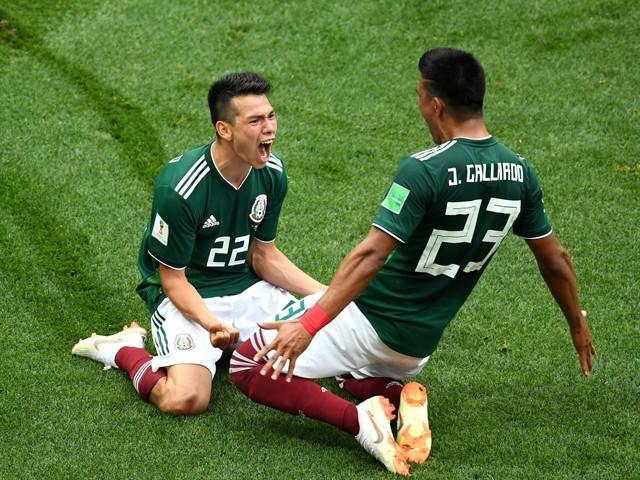 جرمنی نے میکسیکو کی برتری ختم کرنے کی آخر تک بھرپور کوشش کی تاہم اسے کامیابی نہ ملی (فوٹو: اے ایف پی)