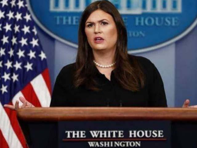 سارہ سینڈر امریکی محکمہ خارجہ میں ترجمان کے فرائض انجام دیتی ہیں۔ فوٹو : فائل