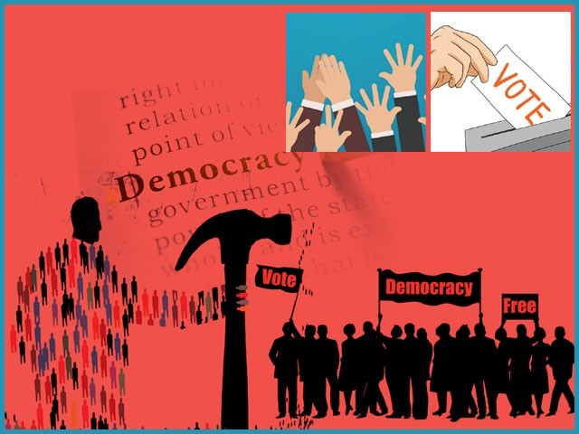 توقع کہ ہم زیادہ بہتر سطح پر جمہوریت پسندی اور اجتماعی شعور کا مظاہرہ کریں گے۔ فوٹو: فائل