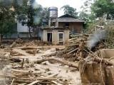 سیلابی ریلے اور لینڈ سلائیڈنگ سے 15 ہزار مکانات تباہ ہوگئے۔ فوٹو : فائل