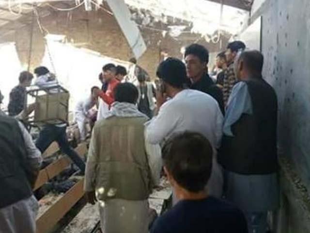 دھماکے کے وقت درس گاہ میں 100 سے زائد طلبا موجود تھے، افغان پولیس فوٹو : سوشل میڈیا