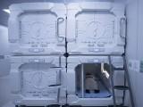 حج میں پہلی بار کیپسول نما الیکٹرانک کمروں کی آزمائش کی جارہی ہے۔ فوٹو: عرب نیوز