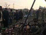 دھماکے الحشد ملیشیا کے الشریعہ روڈ پرواقع الکفیل بریگیڈہیڈکواٹرکے گودام میں ہوئے۔ فوٹو: سوشل میڈیا