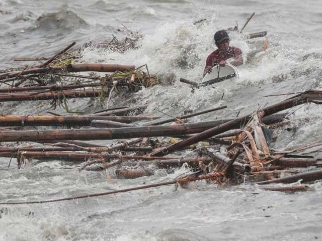 طاقتور طوفان سے بڑے پیمانے پر تباہی کا خدشہ ہے۔ فوٹو : اے ایف پی