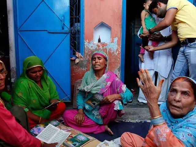 اہل خانہ غم سے نڈھال، حکومت سے انصاف کی فراہمی کا مطالبہ فوٹو:فائل