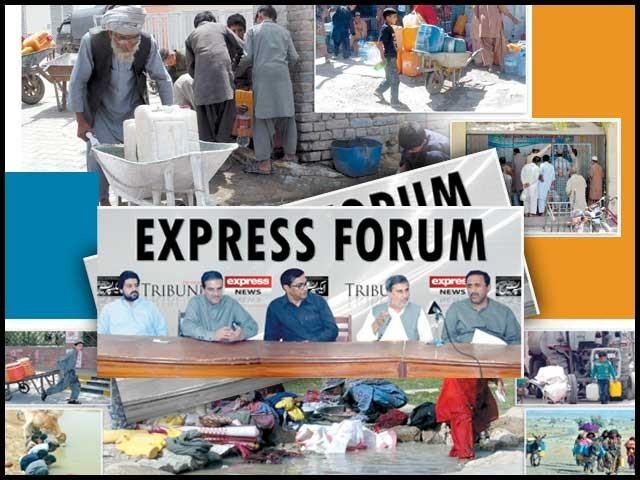 ایکسپریس فورم کوئٹہ میں ''پانی کے مسائل'' کے حوالے سے منعقدہ مذاکرہ کی رپورٹ