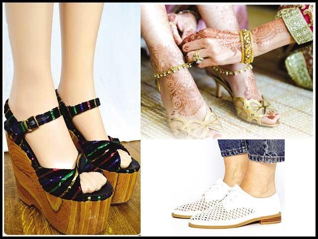 مندرجہ بالا نکات کو مدنظر رکھتے ہوئے جوتے کی خریداری کریں تو آپ کئی مشکلات سے بچ سکیں گی۔: فوٹو : فائل