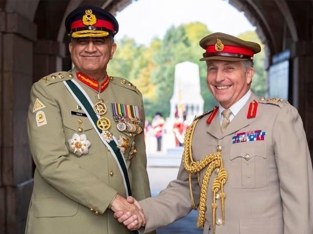 آرمی چیف نے برطانوی سیکرٹری دفاع گیون ولیئم سن سے بھی ملاقات کی، آئی ایس پی آر ۔ فوٹو : فائل