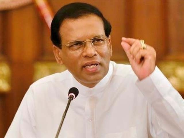 صدر سری سینا نے 2 ہفتے قبل وزیراعظم رنیل وکرما سنگھے کو معزول کردیا تھا فوٹو:فائل