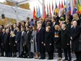 تقریب میں 72 ممالک کے رہنماؤں نے شرکت کی۔ فوٹو : اے ایف پی